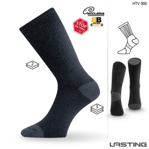 Woolen socks with silver ions HTV 900 black