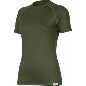 ALEA 6262 zelené vlněné merino triko