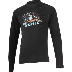 SKATER 9090 black kids merino T-shirt with. d9158fba572